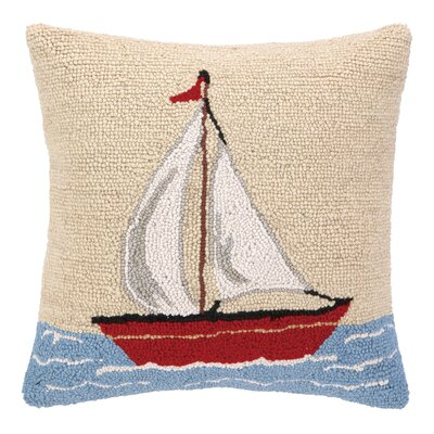 Sailboat Hook Wool Throw Pillow