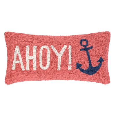 Ahoy Anchors Hook Wool Lumbar Pillow