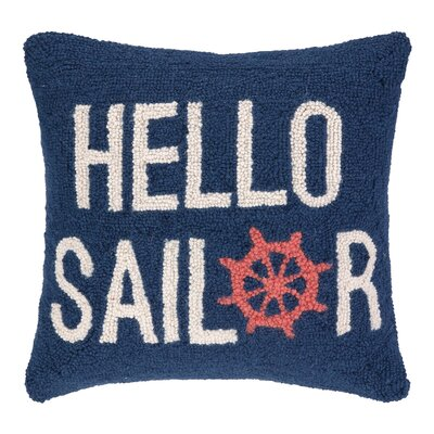 Hello Sailor Hook Wool Throw Pillow