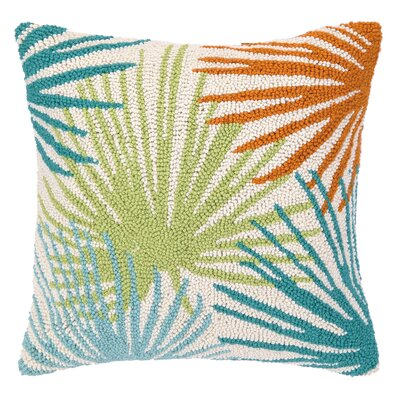 Tropical Leaves I Hook Wool Throw Pillow