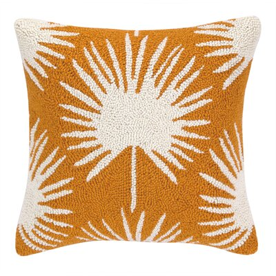 Tropical Leaves II Hook Wool Throw Pillow