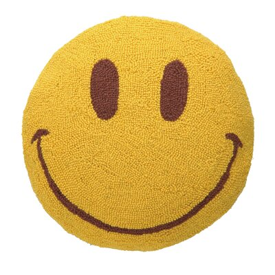 Smile Face Hook Wool Throw Pillow