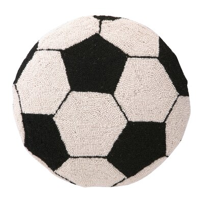 Soccer Hook Wool Throw Pillow