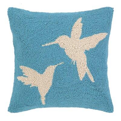 Hummingbird Hook Wool Throw Pillow