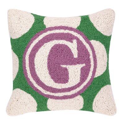 Monogram Letter G Hook Wool Throw Pillow