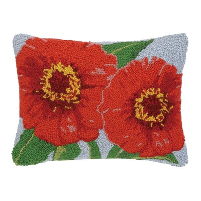 Zinnia Hook Wool Boudoir/Breakfast Pillow