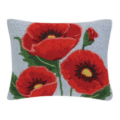 Poppy Hook Wool Boudoir/Breakfast Pillow