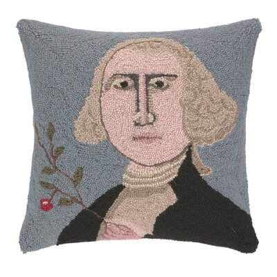 George Washington Hook Wool Throw Pillow