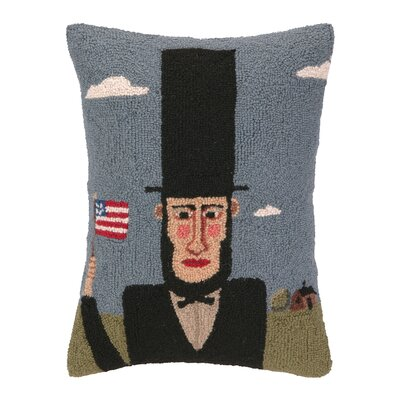 Abraham Lincoln Hook Wool Lumbar Pillow