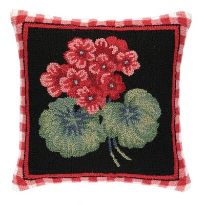Geranium II Hook Wool Throw Pillow