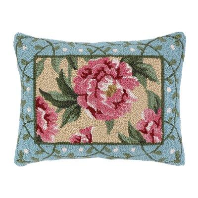 Peony I Hook Wool Lumbar Pillow