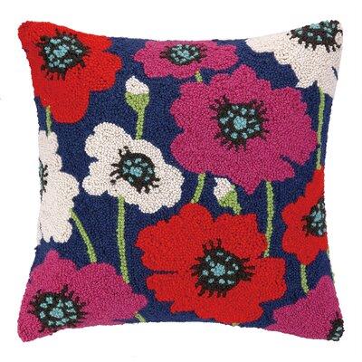 Poppy Hook Wool Throw Pillow