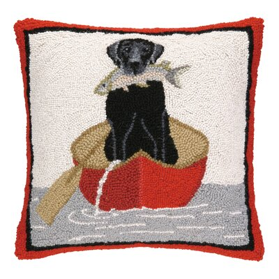 Lab Canoe Hook Wool Throw Pillow