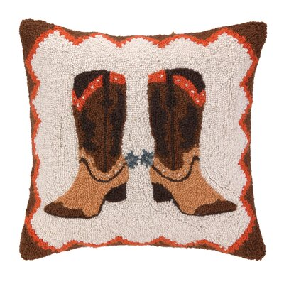 Cowboy Boot Hook Wool Throw Pillow