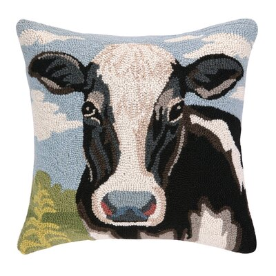 Cow Hook Wool Throw Pillow