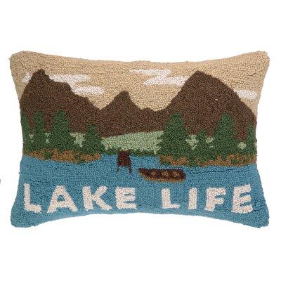 Lake Life Panorama Hook Wool Lumbar Pillow