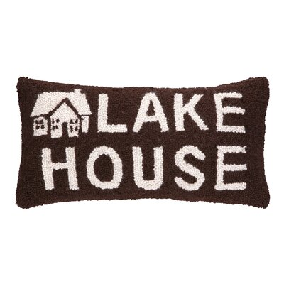 Lake House Hook Wool Lumbar Pillow