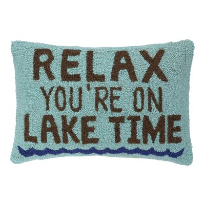 Relax Lake Time Hook Wool Lumbar Pillow