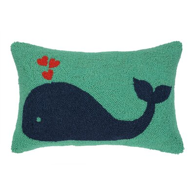 Whale Heart Hook Wool Lumbar Pillow