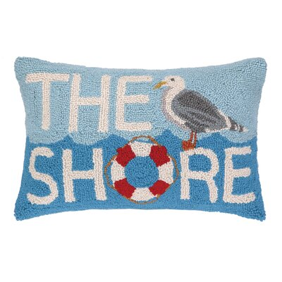The Shore Seagull Hook Wool Lumbar Pillow