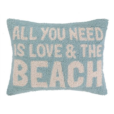 Love and the Beach Hook Wool Lumbar Pillow