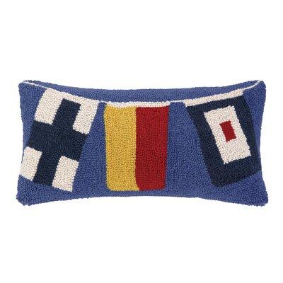 Signal Flags Hook Wool Lumbar Pillow