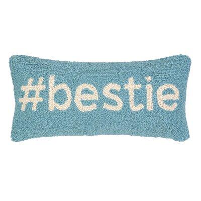 Hashtag Bestie Hook Wool Lumbar Pillow