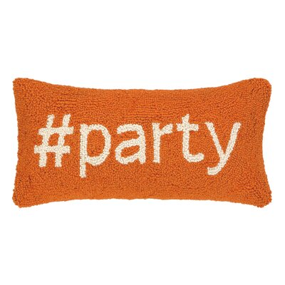 Hashtag Party Hook Wool Lumbar Pillow