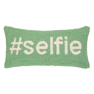 Hashtag Selfie Hook Wool Lumbar Pillow