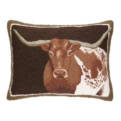 Longhorn Hook Wool Lumbar Pillow