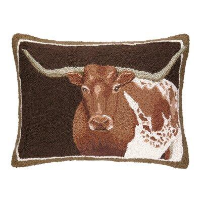 Longhorn Hook Wool Lumbar Pillow