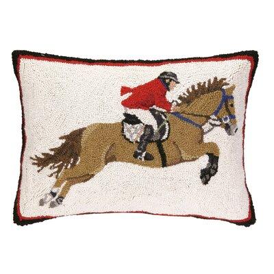 Equestrian Jumper Hook Wool Lumbar Pillow