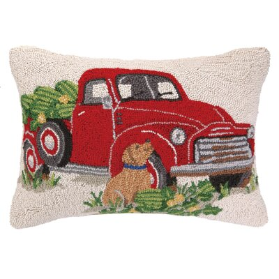 Truck Everyday Hook Wool Lumbar Pillow