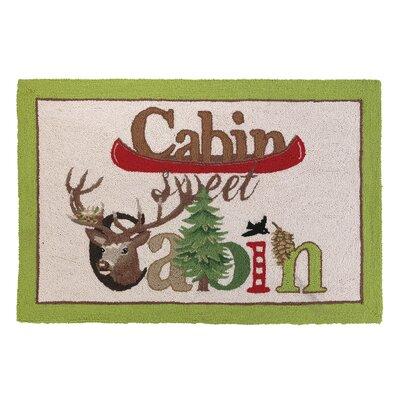 Cabin Sweet Cabin Hook Area Rug