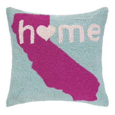 Home in California Hook Wool Throw Pillow