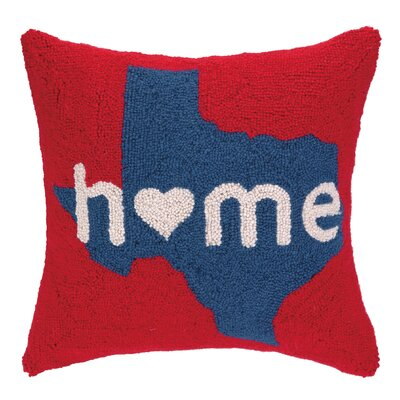 Home in Texas Hook Wool Throw Pillow
