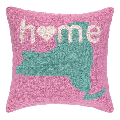 Home in New York Hook Wool Throw Pillow