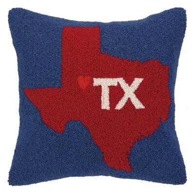My Heart in Texas Hook Wool Throw Pillow