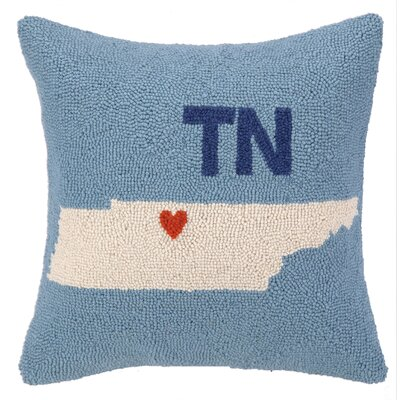 My Heart in Tennessee Hook Wool Throw Pillow