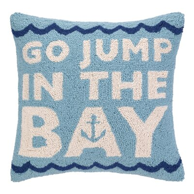 Go Jump in the Bay Hook Wool Throw Pillow