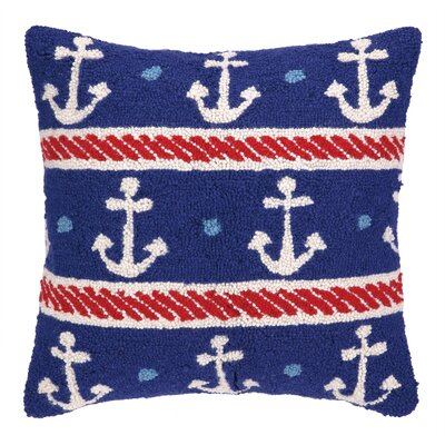 Anchors Hook Wool Throw Pillow