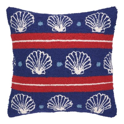 Seashells Hook Wool Throw Pillow