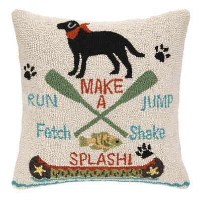 Make a Splash Hook Wool Throw Pillow