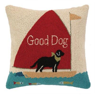 Good Dog Hook Wool Throw Pillow