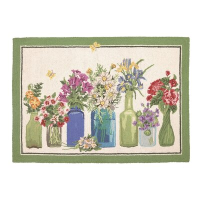 Flower Vase Hook Area Rug