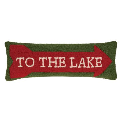 To the Lake Hook Wool Lumbar Pillow
