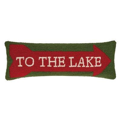 To the Lake Hook Wool Lumbar Pillow