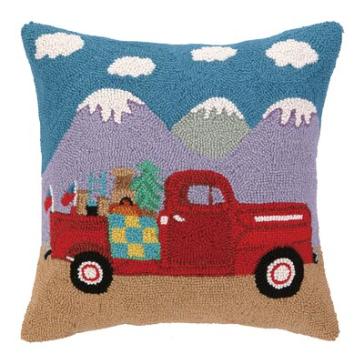 Going Places Truck Hook Wool Throw Pillow