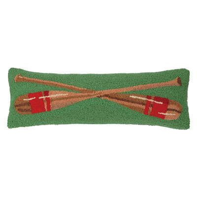 Lake Side Oars Hook Wool Throw Pillow