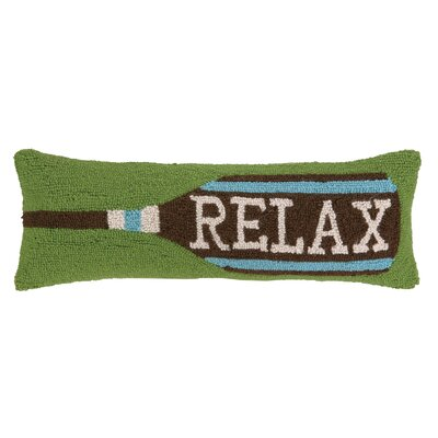 Relax Paddle Hook Wool Throw Pillow